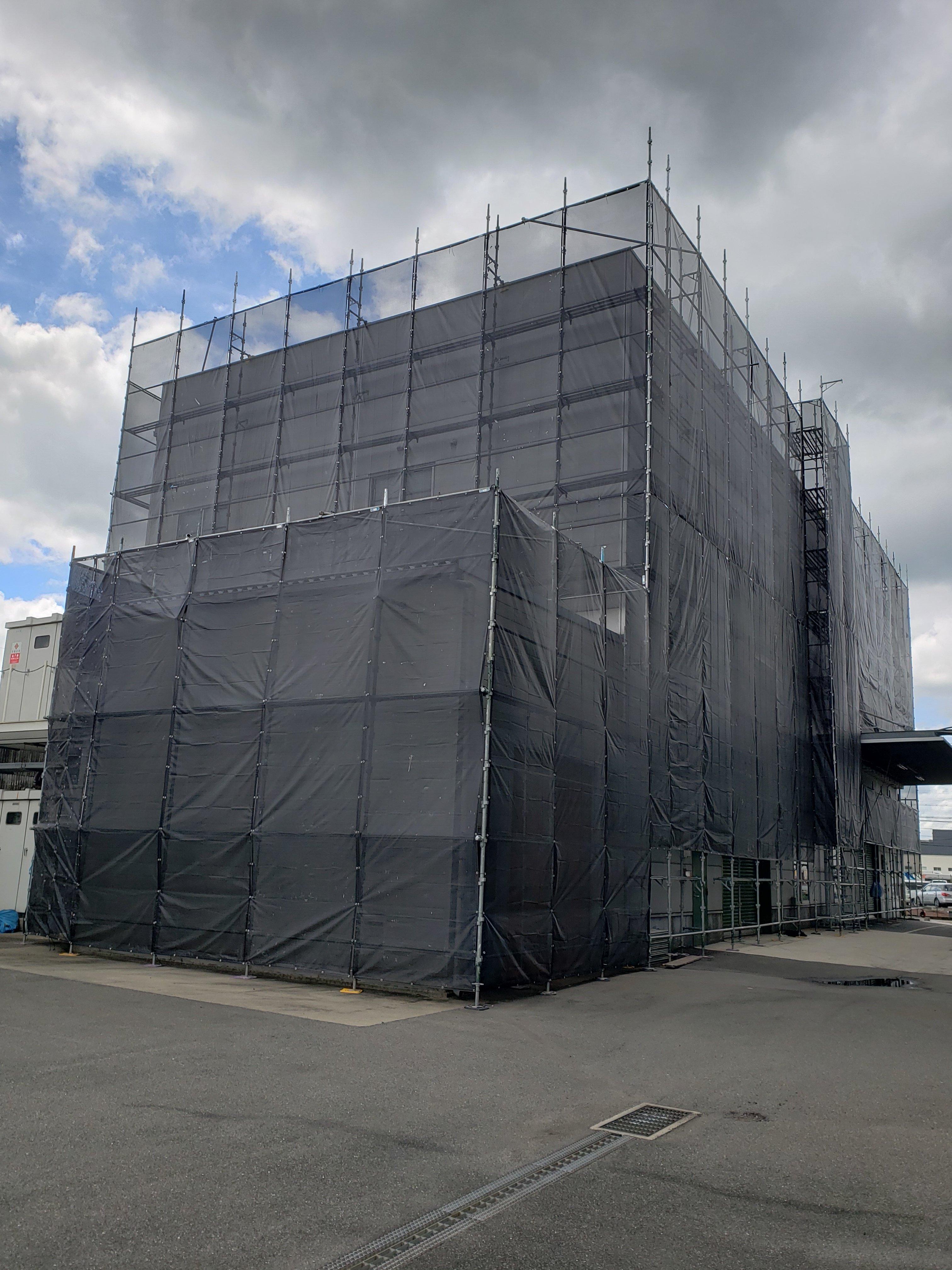 外壁リフォーム 足場組立工事
